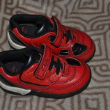 led кроссовки мальчику Clarks Max 14 см 22 размер 5.5G кожа светятся