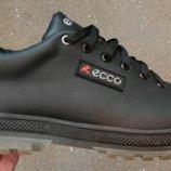 ECCO кожаные туфли осень из натуральной кожи ботинки обувь реплика