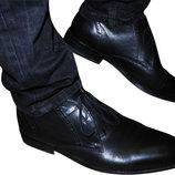 Мужские кожаные туфли черные Kurt Geiger 43