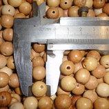 10 мм Бусинки можжевеловые - 200 шт