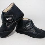 Зимние ботинки для детей, натуральная гладкая кожа, производитель Испания В наличии с 30-34р