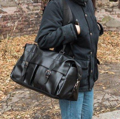 9bea0f204aa2 Мужская кожаная дорожная городская сумка . Черная.: 420 грн ...