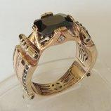 Кольцо 1033МД, золото 585 проба, кубический цирконий.