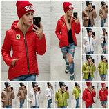 Куртка демисезонная Be Seven с капюшоном утепленная синтепоном / стеганка 4 цвета р-ры 42-48