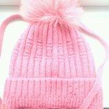 Зимняя шапка на флисе р.98,104