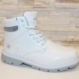Ботинки зимние белые С580