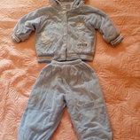 Костюм демисезонный Теплая куртка Теплые штаны на 1-2 года
