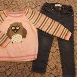 Теплый свитер на 3-4 г. Джинсы в подарок