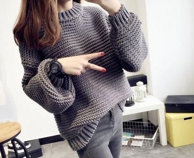 3652b1355eb Вязаный женский свитер оверсайз Oversize крупная вязка объёмный ручная
