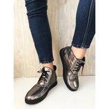 Ботинки женские Polini 23 к никель