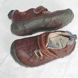 Туфли мокасины полностью кожаные оригинал Clarks 6,5F 15см