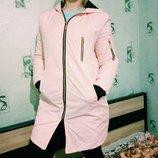 Куртка розовая демисезон в наличии