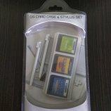 2 стилуса и кейс на 3 картриджа для Nintendo DS