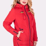 Осеняя женская куртка , утепленная, удобная, р-р 50-60