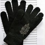 Подростковые шерстяные перчатки для девочки - длина 20 см