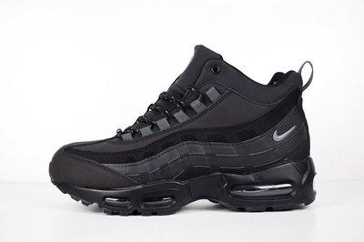 Зимние кроссовки нубук Nike Air Max 95 black