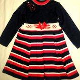 Платья вязанные на девочек 1,2,3 года