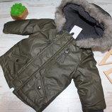 Демисезонная парка куртка f&f на 3-6мес размер 68