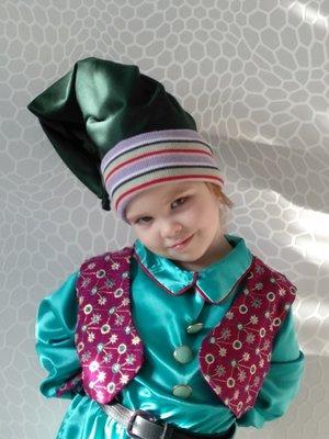 Прокат детский карнавальный костюм гномика, гном, гномик лесного гнома новогодний костюм