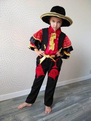 Прокат детский карнавальный костюм мексиканец, испанец, цыган тореадор новогодние, на утренник Киев