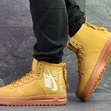 Nike Air Force кроссовки мужские зимние горчичные 6400