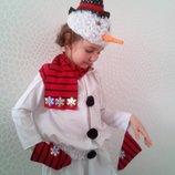прокат карнавальный костюм сніговика, сніговик, снеговик, снеговичок новогодние,на утренник