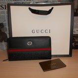Кошелек клатч барсетка мужской Gucci, кожа, Италия 88002