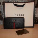 Кошелек клатч барсетка мужской Gucci, кожа, Италия 88001
