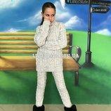 Костюм вязаный на девочку,вязаный костюм,зимний комплект на девочку