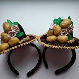 Обруч,ободок,картошка, картофель,картоплинка,картопля,костюм картошки