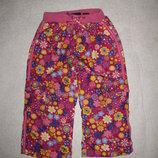 1,5-2 года, тёплые деми штаны плащёвка на подкладке для девочки