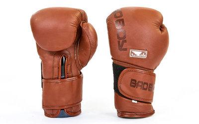 Перчатки боксерские на липучке Bad Boy 6618 размер 12 унций, кожа