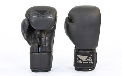 Перчатки боксерские на липучке Bad Boy 6605 10-14 унций, кожа