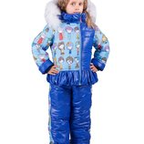 Оригинальный зимний комплект -комбинезон и куртка Человечки