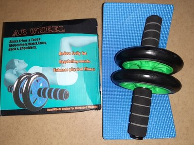 Тренажер колесо для мышц пресса 27 см, диаметр 14 см, 4 цвета