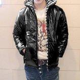 Стильная мужская куртка на молнии Цвет черный, синий Материал 100% полиэстер