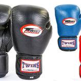 Перчатки боксерские на липучке Twins 6631 10-14 унций, кожа 3 цвета