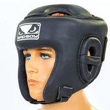 Шлем боксерский открытый с усиленной защитой макушки Bad Boy 6626 шлем бокс кожа, размер M-XL