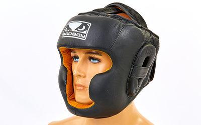 Шлем боксерский с полной защитой Bad Boy 6622 шлем бокс кожа, размер M-XL