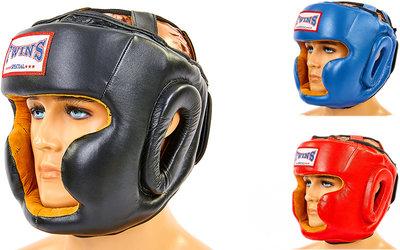 Шлем боксерский с полной защитой Twins 6630 шлем бокс кожа, размер M-XL