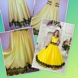 Нарядное выпускное пышное детское платье