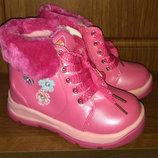 Детские сапоги для девочек на шнуровке размеры 22 - 27