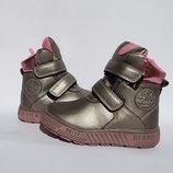 Зимние ботинки для девочки,на меху, 23- 26р