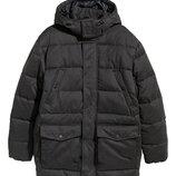 Куртка парка H&M оригинал теплая удлиненная рS большемерит на М-L