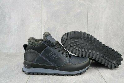 Мужские кожаные ботинки New balance синие