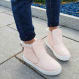 Зимние и демисезонные натуральные кожаные женские ботинки слипоны 32,33,34,35,36,37,38,39,40,41