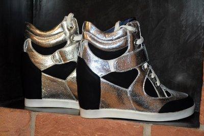 зимние ботинки сникерсы 36-41рр, Польша. цвет silver, gold, на меху