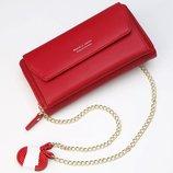 Женский клатч сумочка Baellerry Leather red