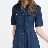 Джинсовое платье zara 8p