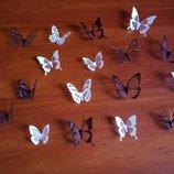 Красивые бабочки из пластика для декора на стену, метелики